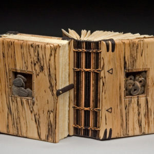 WOODEN BOOK: BACK TO BACK, 3-5 day workshop Two books that share a central cover